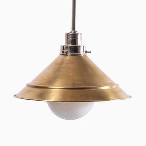 Vintage Deckenlampe aus Messing, 1980er