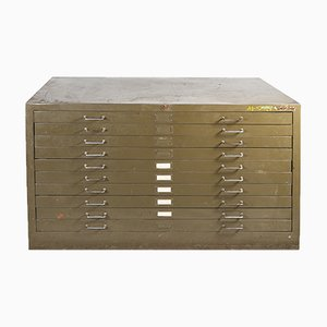 Metal Blueprint Filing Cabinet from Kovona, 1970s