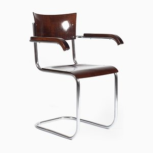 Mid-Century Beech and Plywood Side Chair from Kovona
