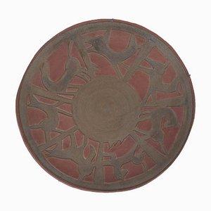 Plat en Céramique Brute par Alessio Tasca, 1996