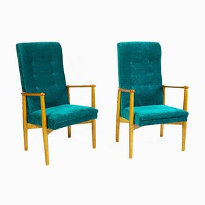 Mid-Century Birch Armchairs by Ilmari Tapiovaara, 1952, Set of 2