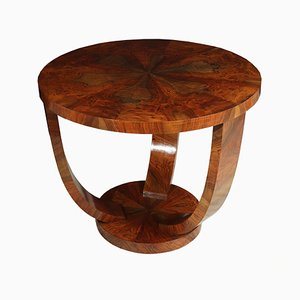 Vintage Art Deco French Walnut Coffee Table, 1930s