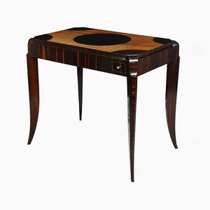 Tavolo da gioco Art Deco in sicomoro, Francia, anni '20