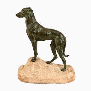 Escultura Sloughi Greyhound de Jules Edmond Masson para Max Le Verrier