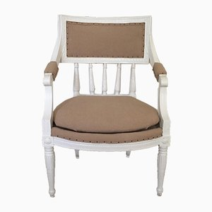 Antique Gustavian Armchair with Openwork Back