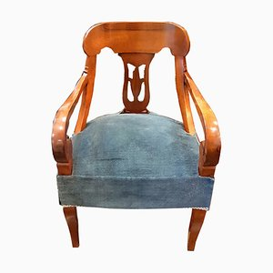 Antiker italienischer Sessel aus Walnussholz