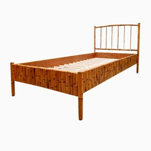 Vintage Tropical-Style Bamboo Daybed