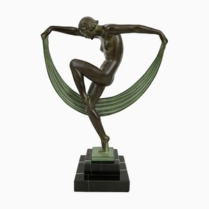 Scultura Folie Dancer di Marcel Bouraine per Max Le Verrier
