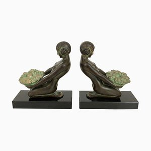 Cueillette Bookends by Max Le Verrier, Set of 2