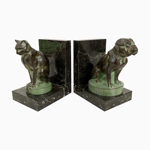 Dog and Cat Bookends by Max Le Verrier