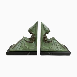 Moyen Age Bookends by Max Le Verrier