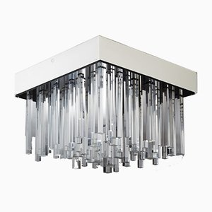 Mid-Century Finnish Metal and Acrylic Ceiling Lamp, 1960s