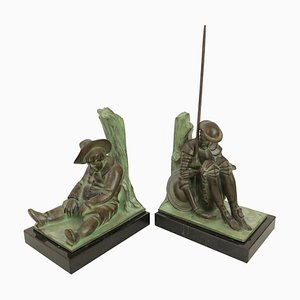 Don Quichotte and Sancho Panza Bookends by Janle for Max Le Verrier