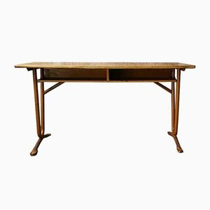 Mid-Century German Metal and Wood School Desk from BWB, 1960s