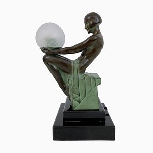 Escultura Délassement Lumineux iluminada de Max Le Verrier