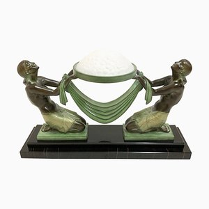 Illuminated Offrande Sculpture by Pierre Le Faguay for Max Le Verrier