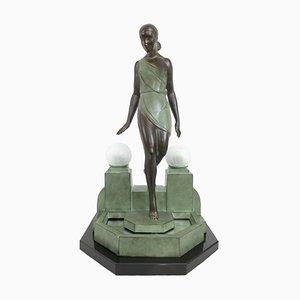 Beleuchtete Nausicaa Skulptur von Pierre Le Faguays für Max Le Verrier