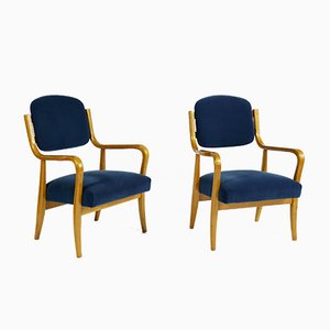 Mid-Century Birch Armchairs by Werner West for Keravan Puusepät, Set of 2
