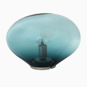 Lámpara de mesa Planetoide Palasi S iridiscente en azul petróleo de Simone Lüling para ELOA