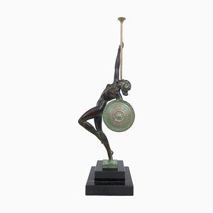 Jericho Amazon Skulptur von Raymonde Guerbe für Max Le Verrier