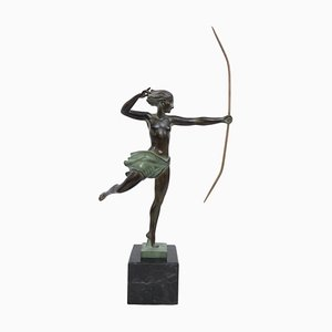 Sculpture Atalante Amazon par Demarco pour Max Le Verrier
