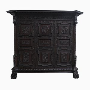 French Renaissance Style Walnut Sideboard
