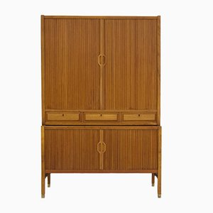 Teak Cabinet with Tambour Doors by Carl-Axel Acking for Bodafors, 1960s