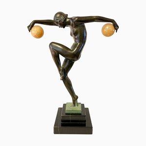 Scultura Danseuse Aux Boules di Marcel Bouraine per Max Le Verrier