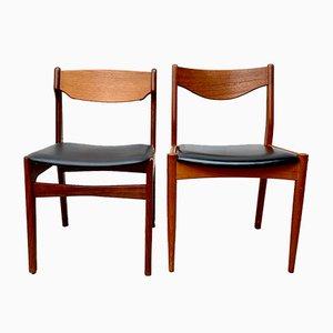 Chaises de Salon en Teck et Vinyle, Danemark, 1960s, Set de