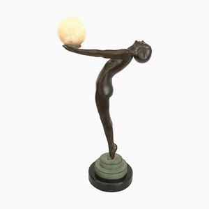 Lueur Tänzer Skulptur mit Onyx Kugel Clarté Skulptur von Max Le Verrier