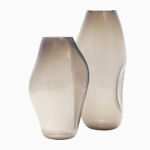 Supernova IV Silver Smoke M Vase by Simone Lueling for ELOA