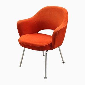 Konferenzstuhl aus Velours von Eero Saarinen für Knoll Inc. / Knoll International, 1960er
