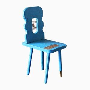 Chaise d'Appoint Brutaliste en Pin par Markus Friedrich Staab, Allemagne, 2019
