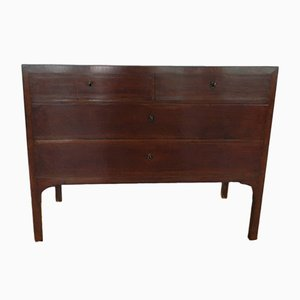 Commode Empire Antique en Laiton et Noyer, Italie
