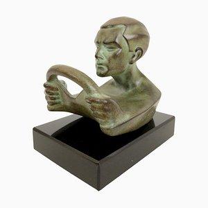 Sculpture Plein Gaz Autoportrait Hood Ornament par Max Le Verrier
