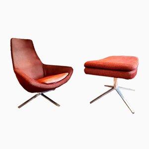Italienischer moderner Sessel und Ottomane aus Aluminium von Jeffrey Bernett für B&B Italia, 2003
