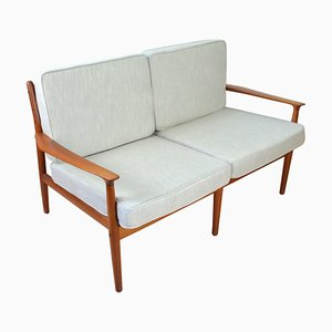 Danish Teak & Wood Sofa by Arne Vodder for Glostrup, 1960s