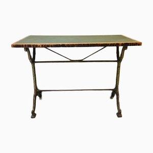 Antiker, französischer Cafehaustisch/Bistrotisch, Castagne & J.Charlionais, Gusseisen