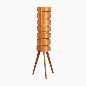 Danish Pine Floor Lamp by Hans-Agne Jakobsson for Ellysett AB, 1960s