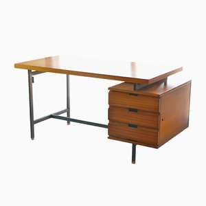 Mid-Century French Mahogany Desk by Pierre Guariche for Minvielle, 1955