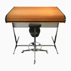 Scrivania Action Office 64916 e sgabello 64940 di George Nelson & Robert Propst per Herman Miller, anni '60