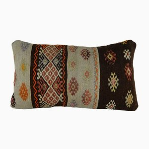 Vintage Tribal Kilim Lumbar Pillow Cover from Vintage Pillow Store Contemporary