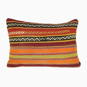 Housse de Coussin Kilim Lumbar Rayée Tissée à la Main de Vintage Pillow Store Contemporary