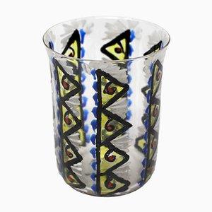 Vase Vintage en Verre Émaillé par Josep Maria Gol i Creus