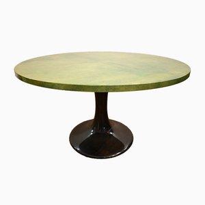 Tavolino da caffè in mogano e pergamena di Aldo Tura, anni '50