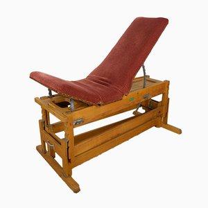 Mesa de masaje alemana vintage de ALDA Turngerätebau, años 50
