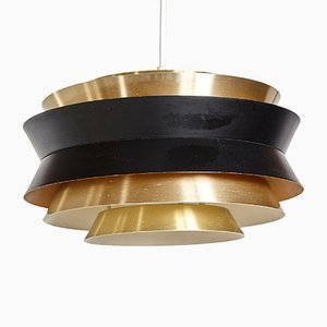 Danish Brass Trava Pendant Lamp by Carl Thore for Granhaga Metallindustri, 1960s