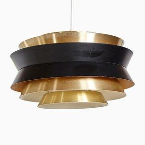 Lámpara colgante Trava danesa de latón de Carl Thore para Granhaga Metallindustri, años 60