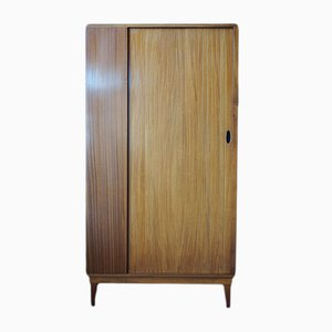 Mid-Century Teak Wardrobe with Tambour Door from Austinsuite, 1960s