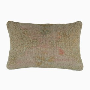 Handwoven Low Pile Oushak Rug Pillow Cover from Vintage Pillow Store Contemporary